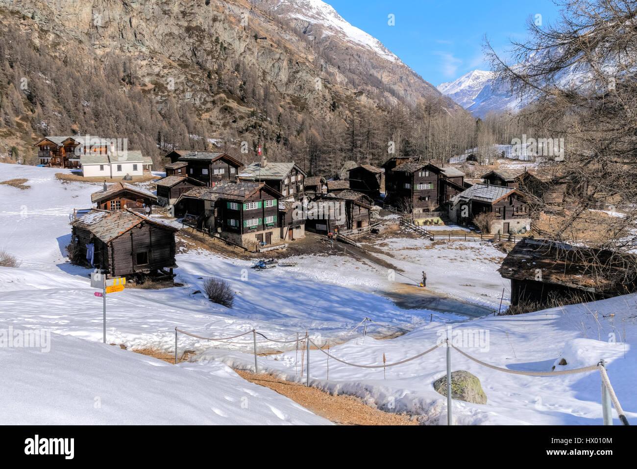 Zum See, Zermatt, Valais, Switzerland, Europe - Stock Image
