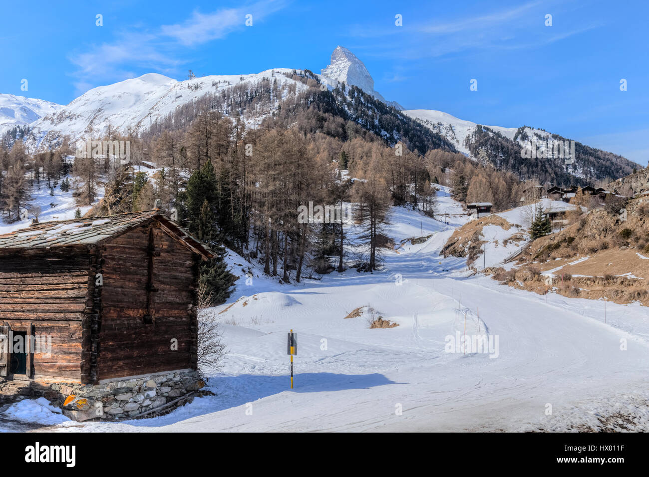 Blatten, Matterhorn, Zermatt, Valais, Switzerland, Europe - Stock Image