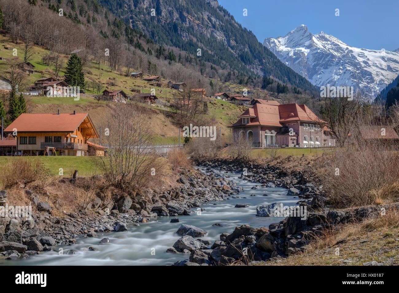 Grindelwald, Berner Oberland, Berne, Switzerland, Europe - Stock Image