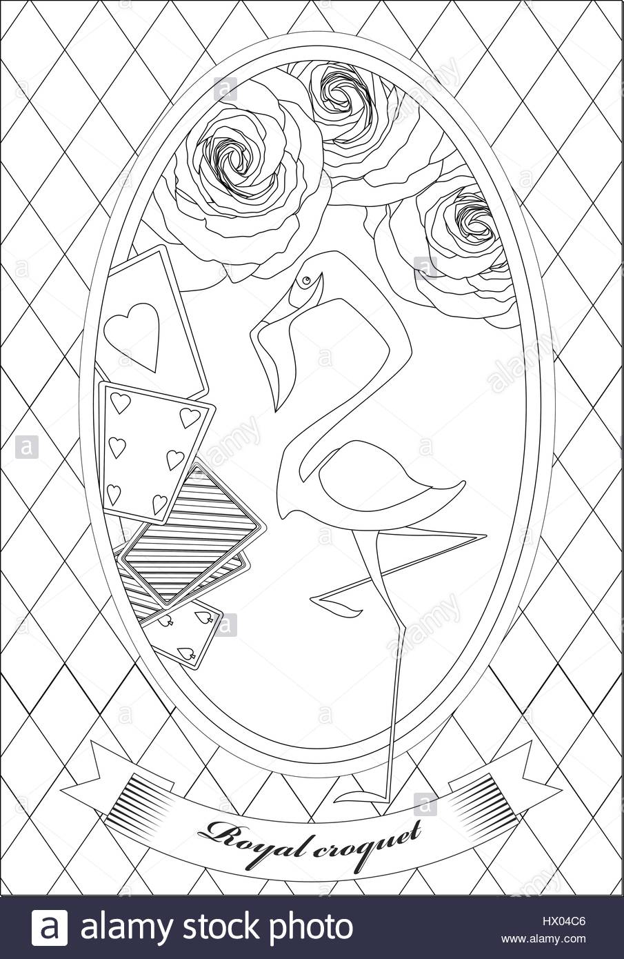 Coloring Page Alice In Wonderland Royal Croquet Hatter Dormouse