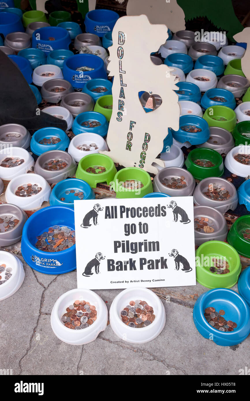 Fundraising for a town's doggy park. - Stock Image