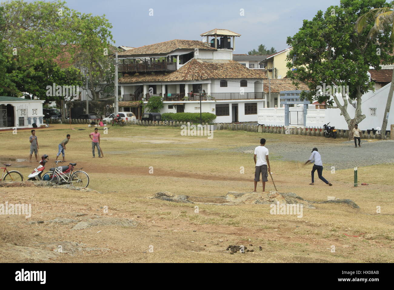 Pickup Cricket game, Galle - Stock Image