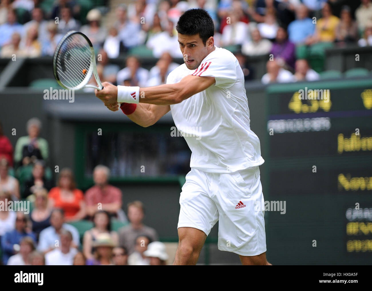 NOVAK DJOKOVIC SERBIA WIMBLEDON LONDON ENGLAND 22 June 2009 - Stock Image