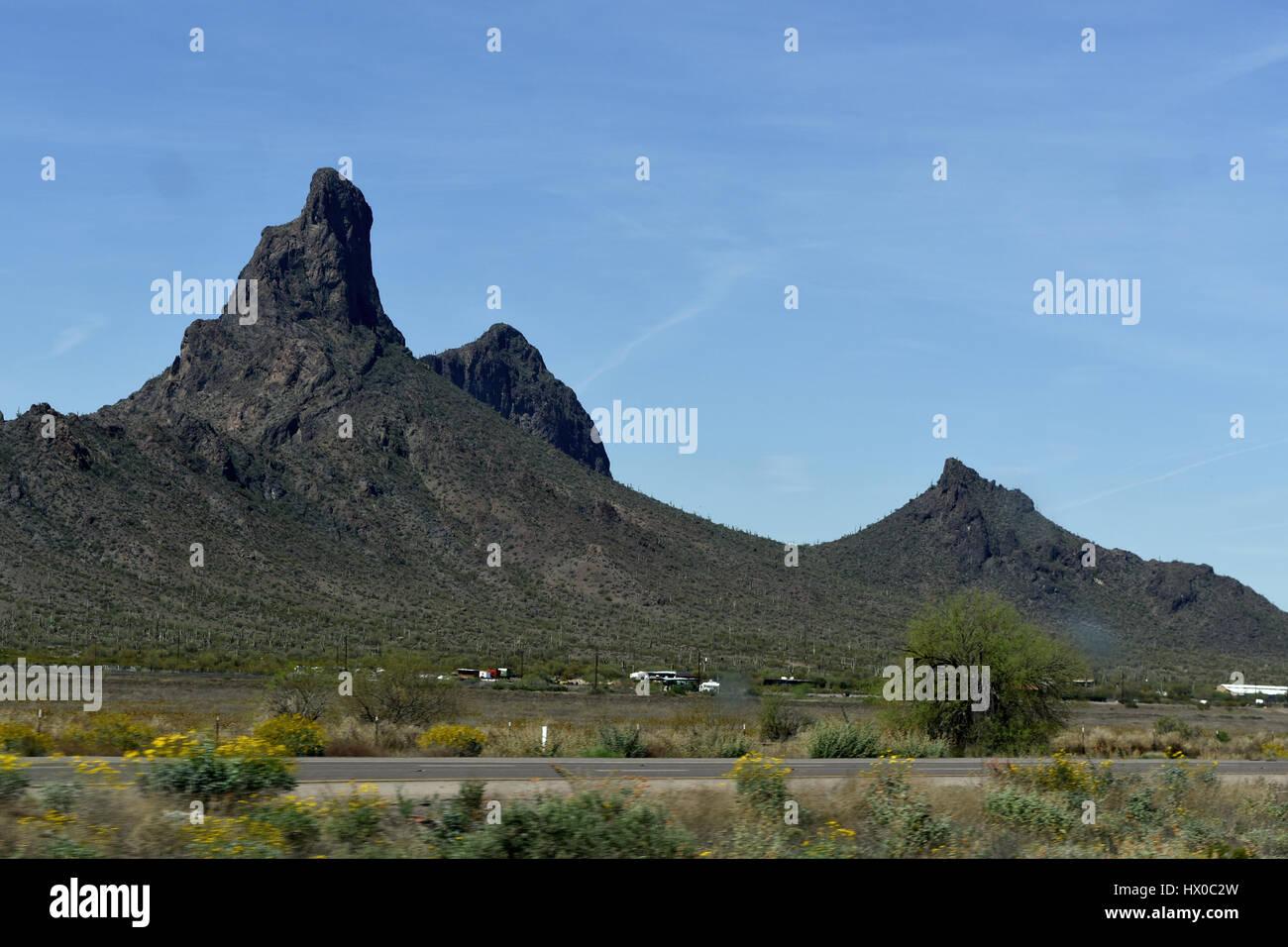 Picacho Peak national park, AZ - Stock Image