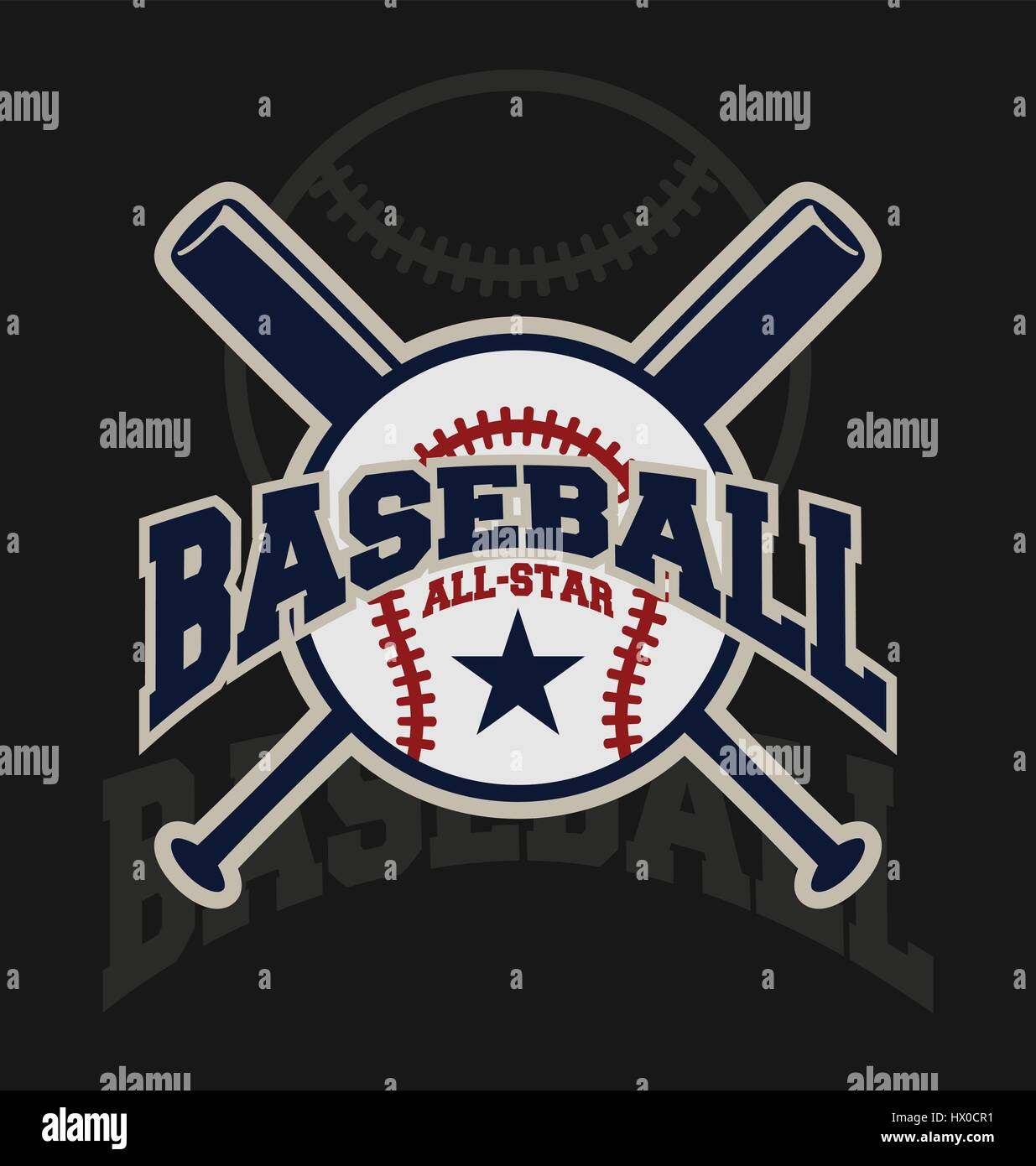 Baseball Sport Badge Logo Design Template And Some Elements For Logos Banner Emblem Label Insignia T Shirt Screen Printing
