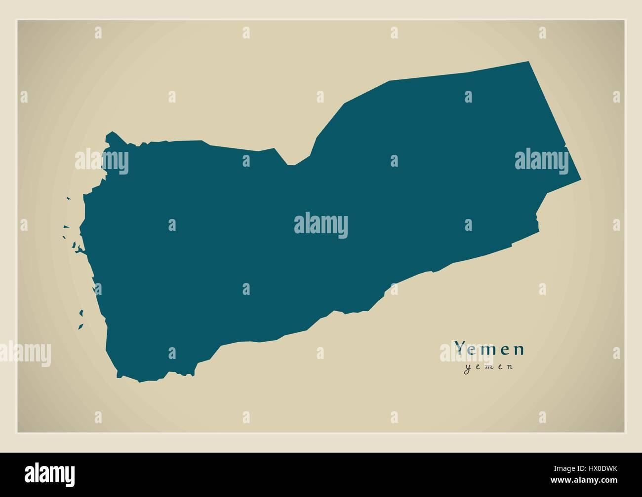 Modern Map - Yemen YE - Stock Vector