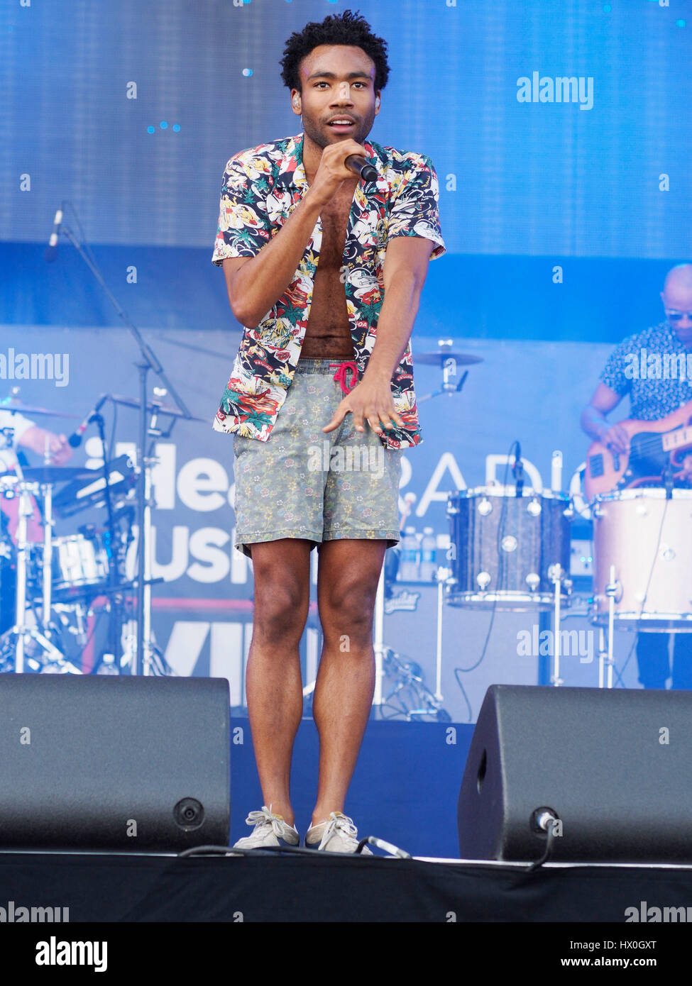 Childish Gambino aka Donald Glover performs at the the iHeartRadio Music Festival & Village on September 20, - Stock Image