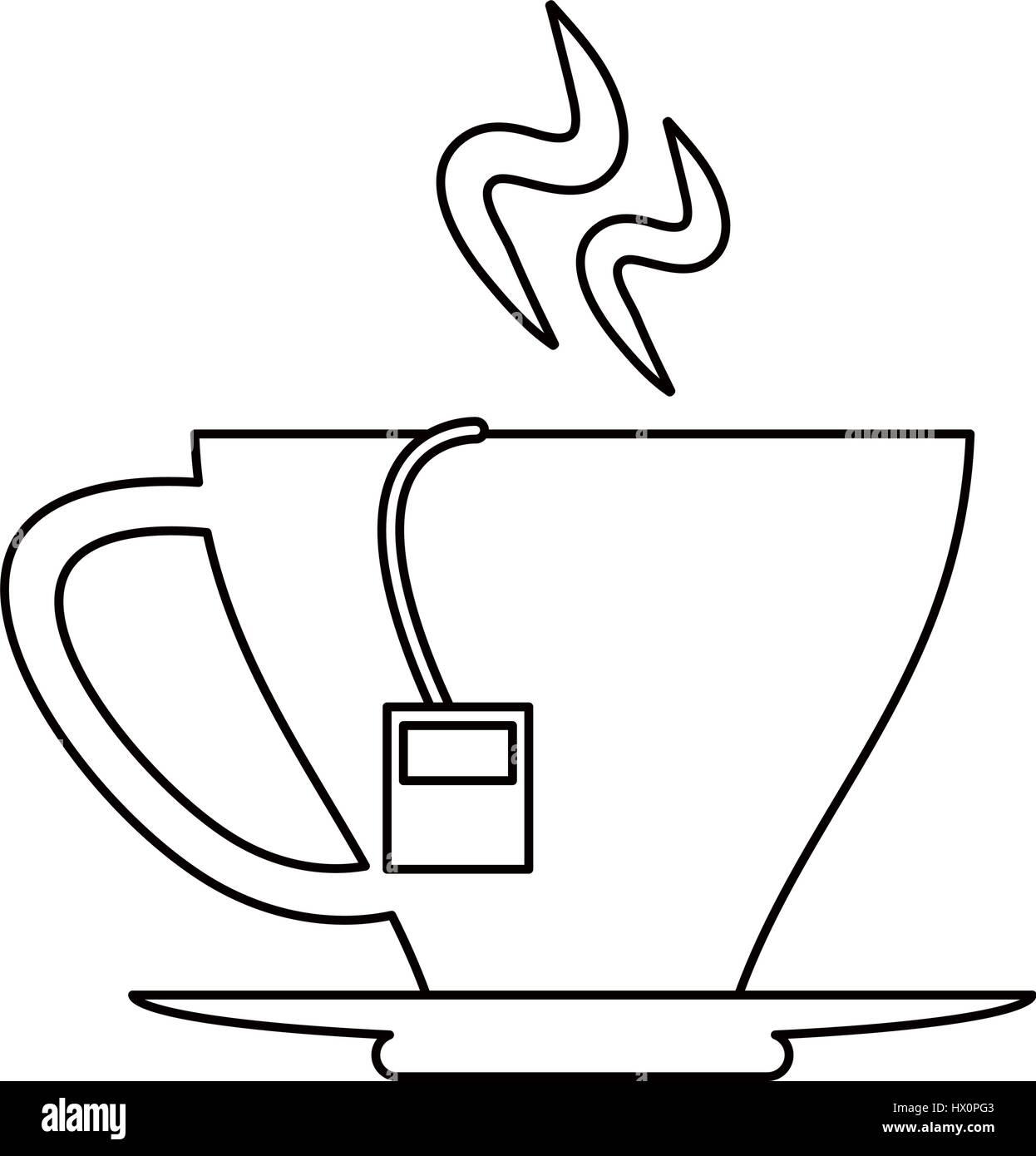 Tea Cup Beverage Hot Outline