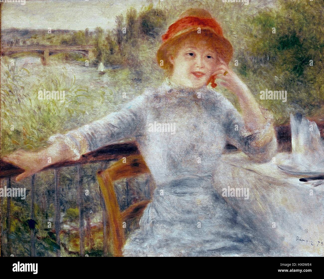 Auguste Renoir (1841-1919).  French painter. Impressionist. Portrait of Alphonsine Fournaise, 1879. Orsay Museum. - Stock Image