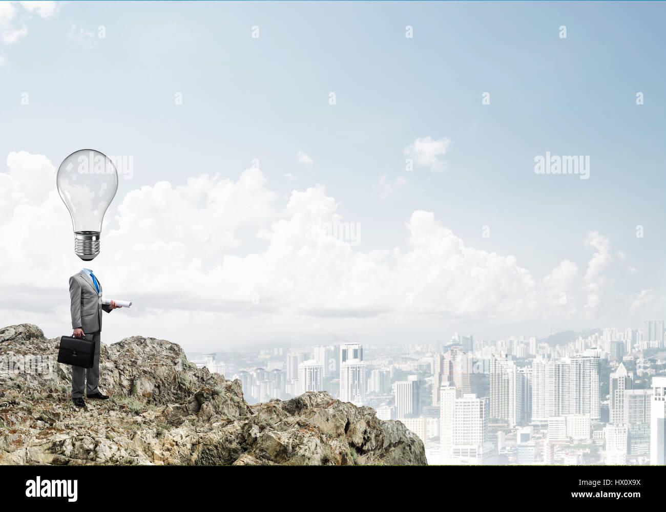 Man of creative ideas - Stock Image