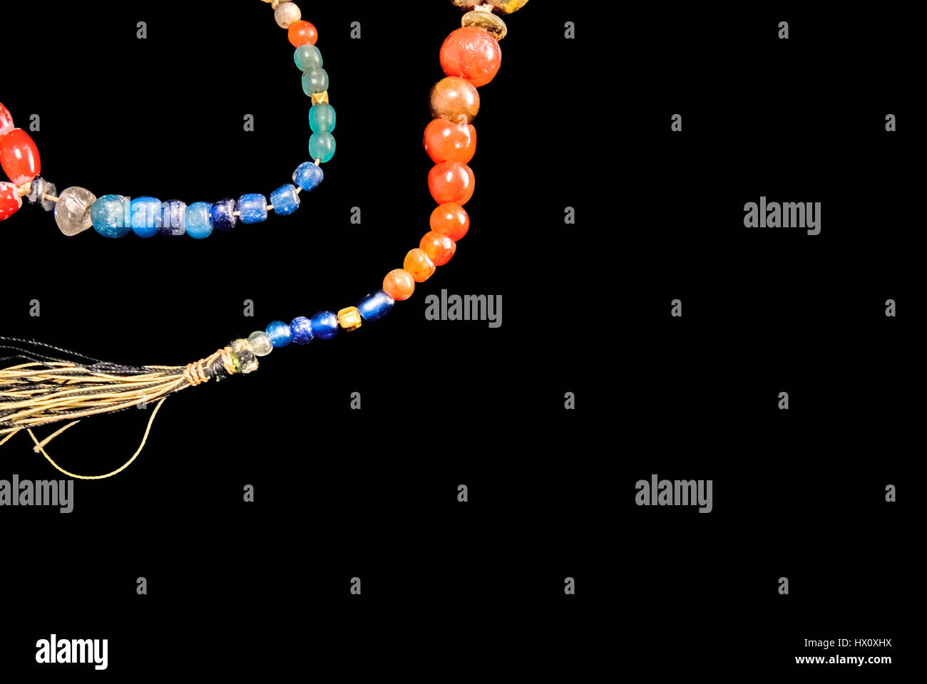 Prehistoric amber beads of Southeast Asia. - Stock Image