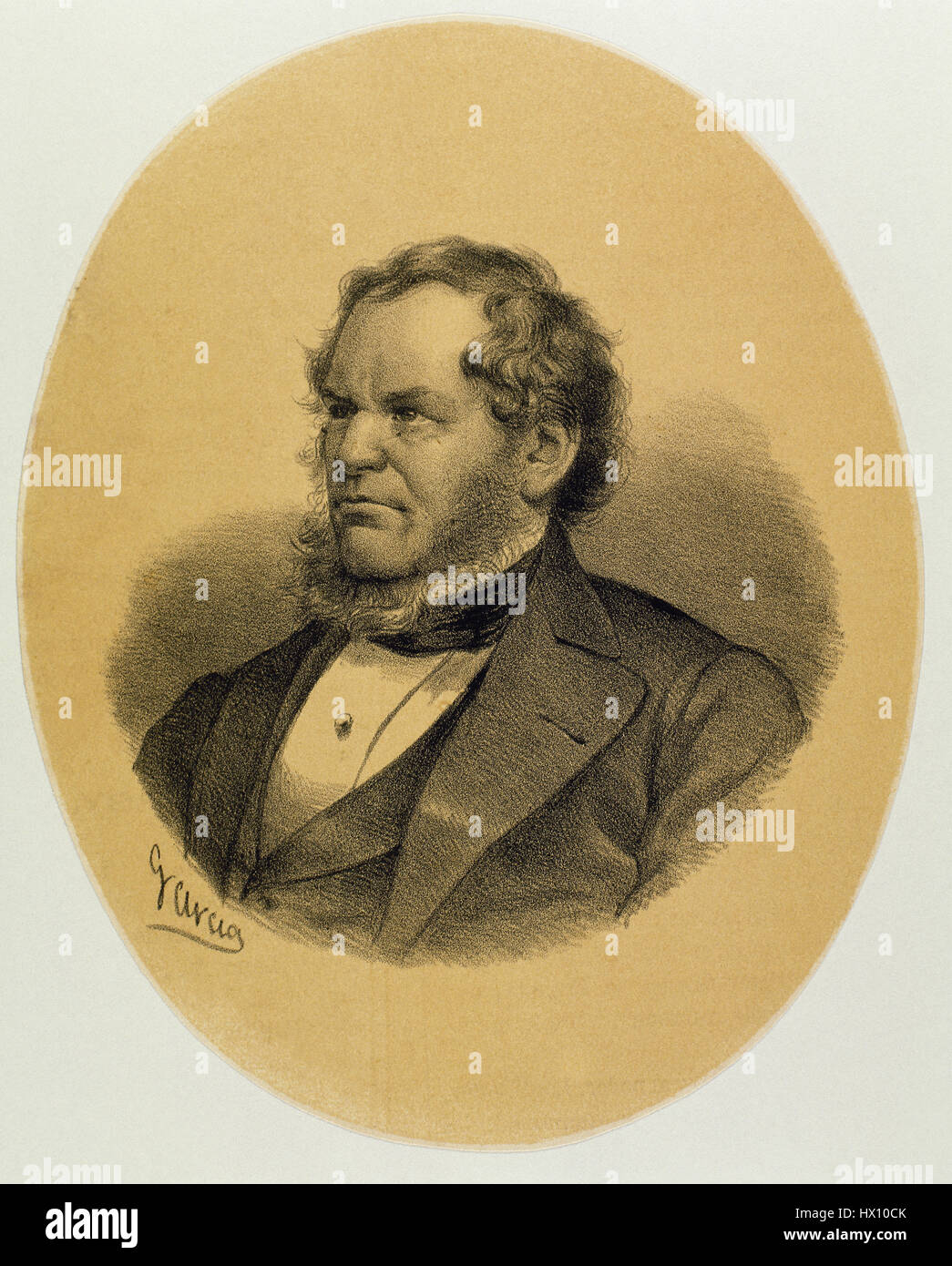 Edward George Geoffrey Smith-Stanley, 14th Earl of Derby, (1799-1869). British statesman and Prime Minister of the - Stock Image