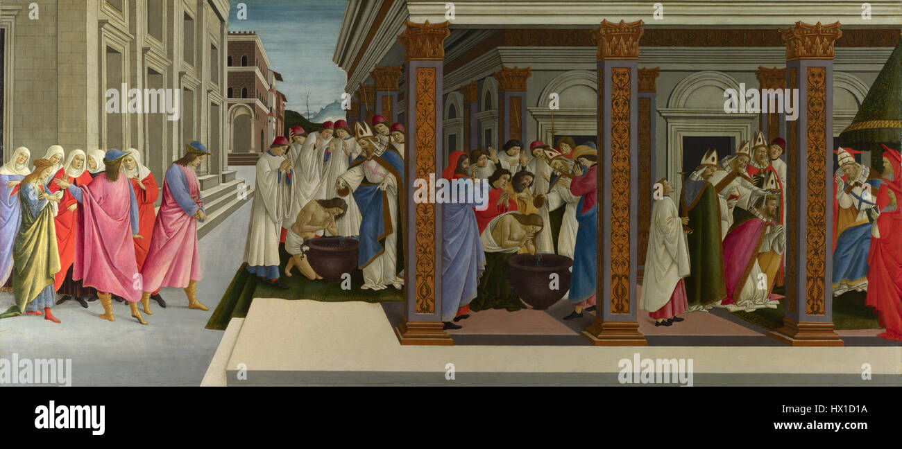 Four Scenes from the Early Life of Saint Zenobius - Stock Image