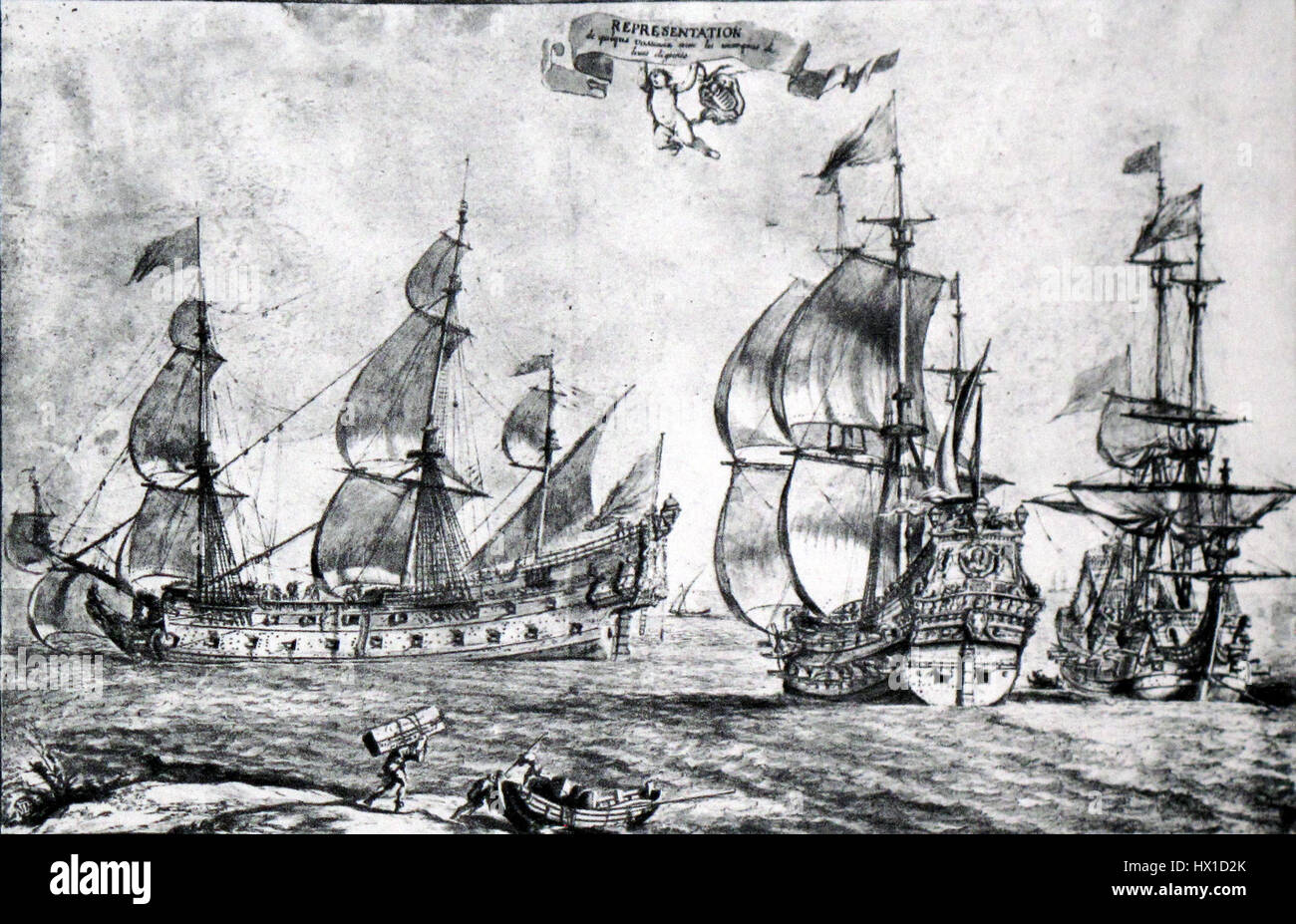 French ships of the line Pierre Puget img 3211 - Stock Image