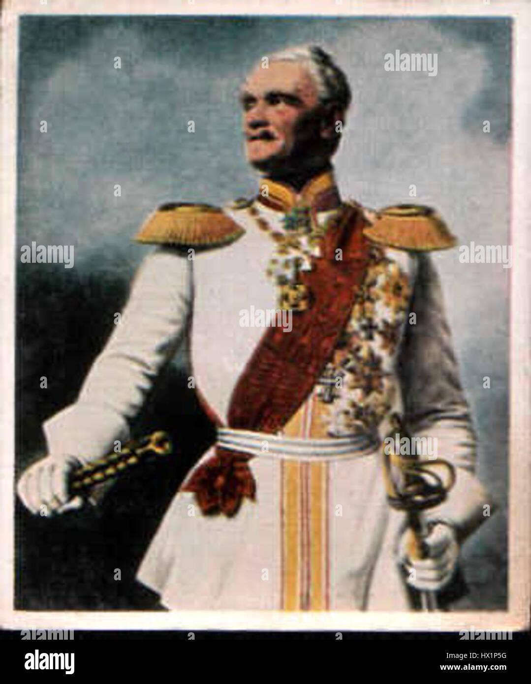 Feldmarschall Friedrich von Wrangel - Stock Image