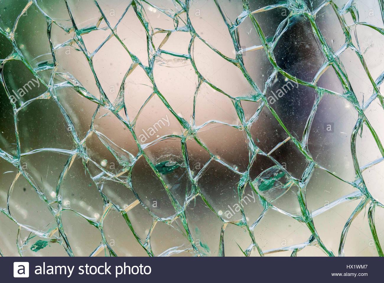 Broken security glass Stock Photo: 136495751 - Alamy