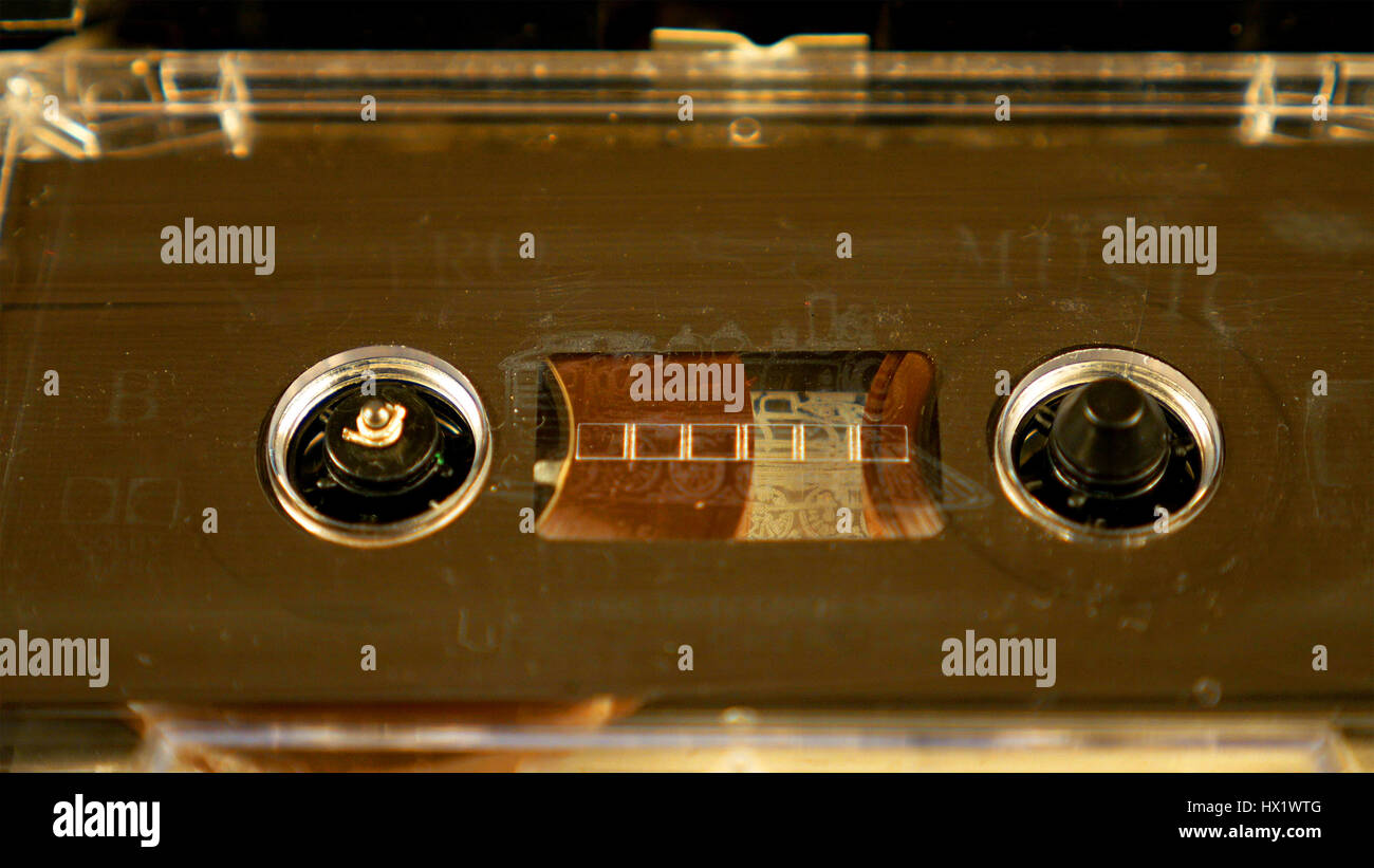 Old retro compact cassette vintage audio recorder - Stock Image
