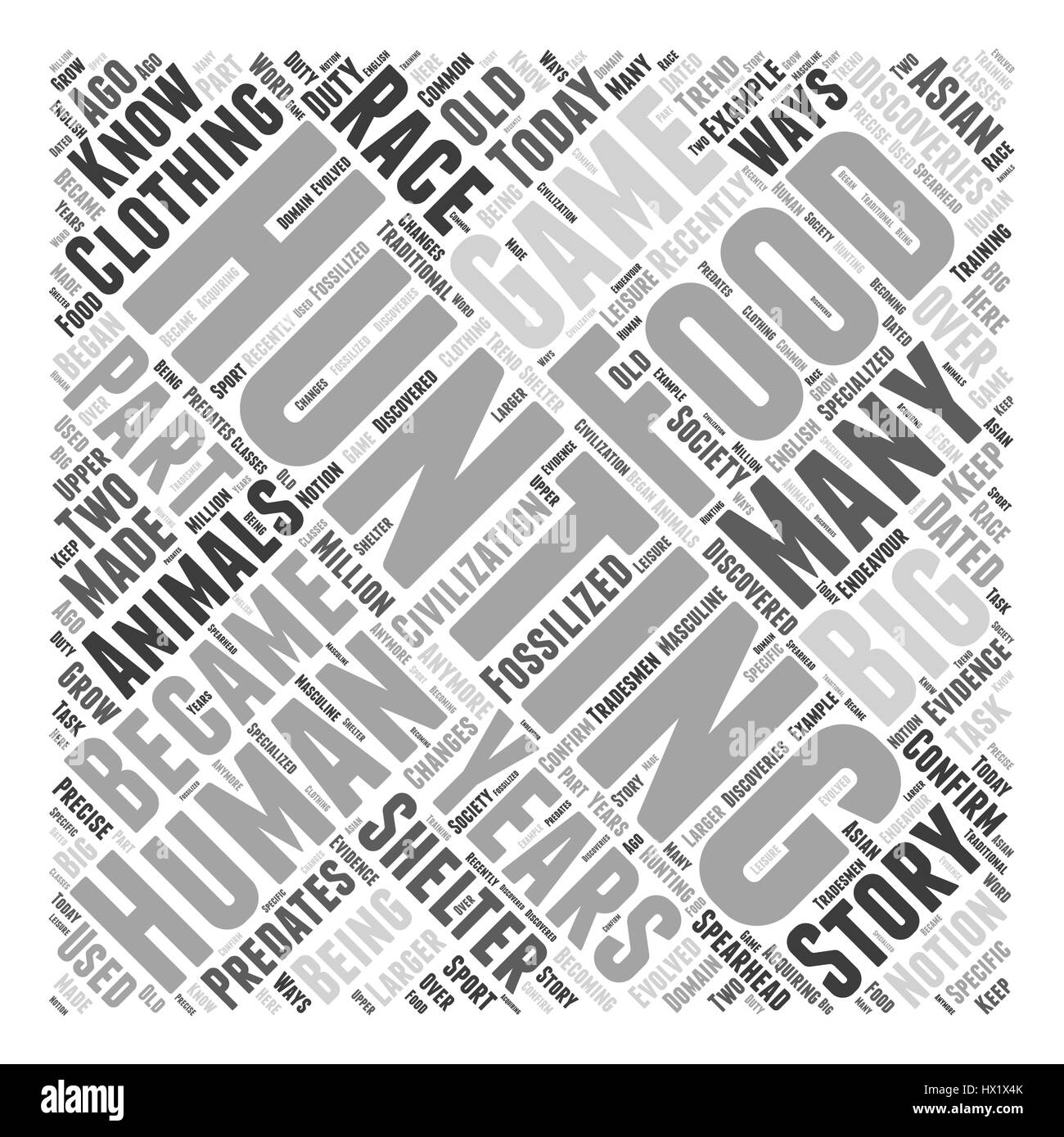 a history of hunting dlvy nicheblowercom Word Cloud Concept - Stock Vector