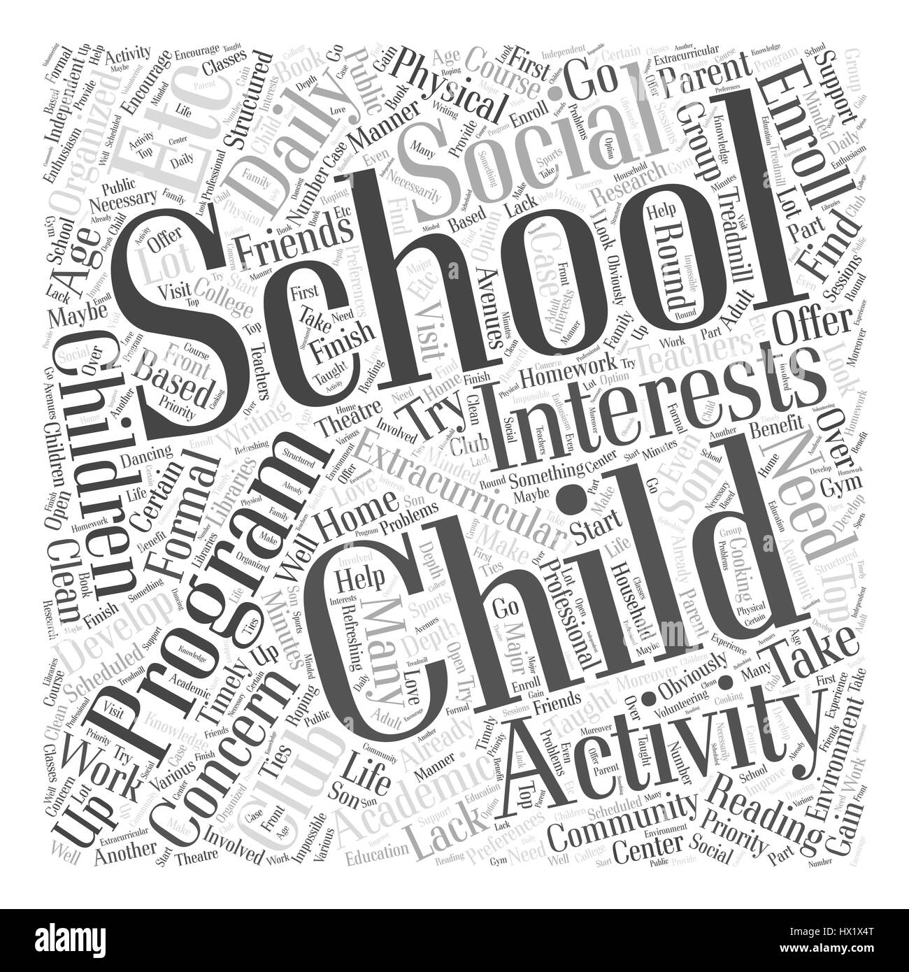 a home based after school program Word Cloud Concept Stock Vector ...