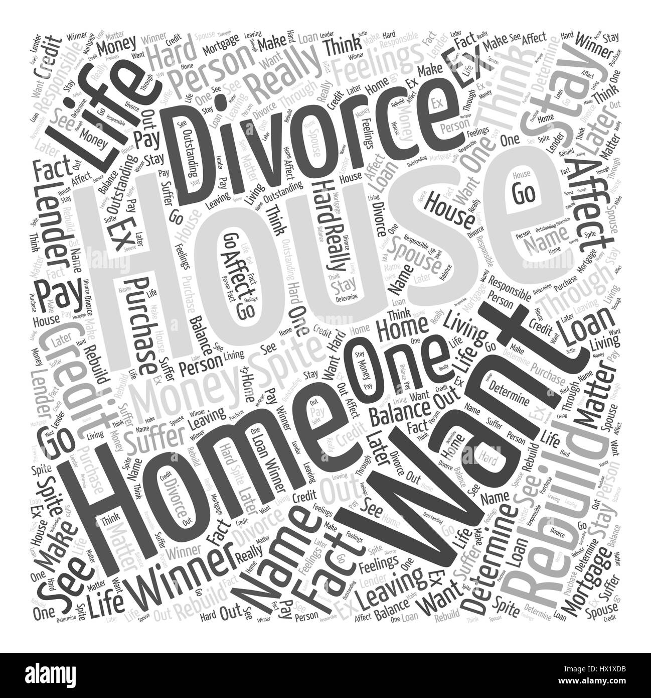 about the house in your name Word Cloud Concept Stock Vector