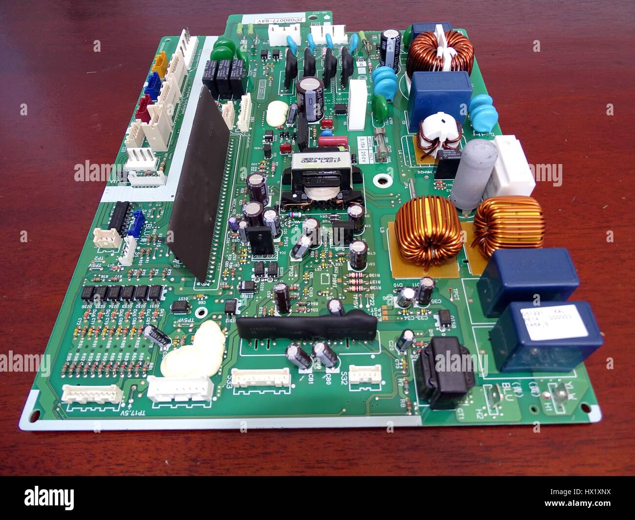 View of a circuit board - Stock Image