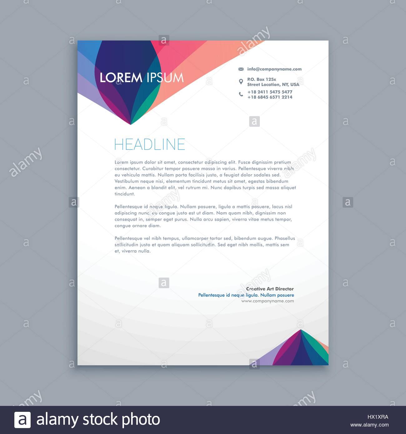 Creative business letterhead template vector design illustration creative business letterhead template vector design illustration cheaphphosting Gallery