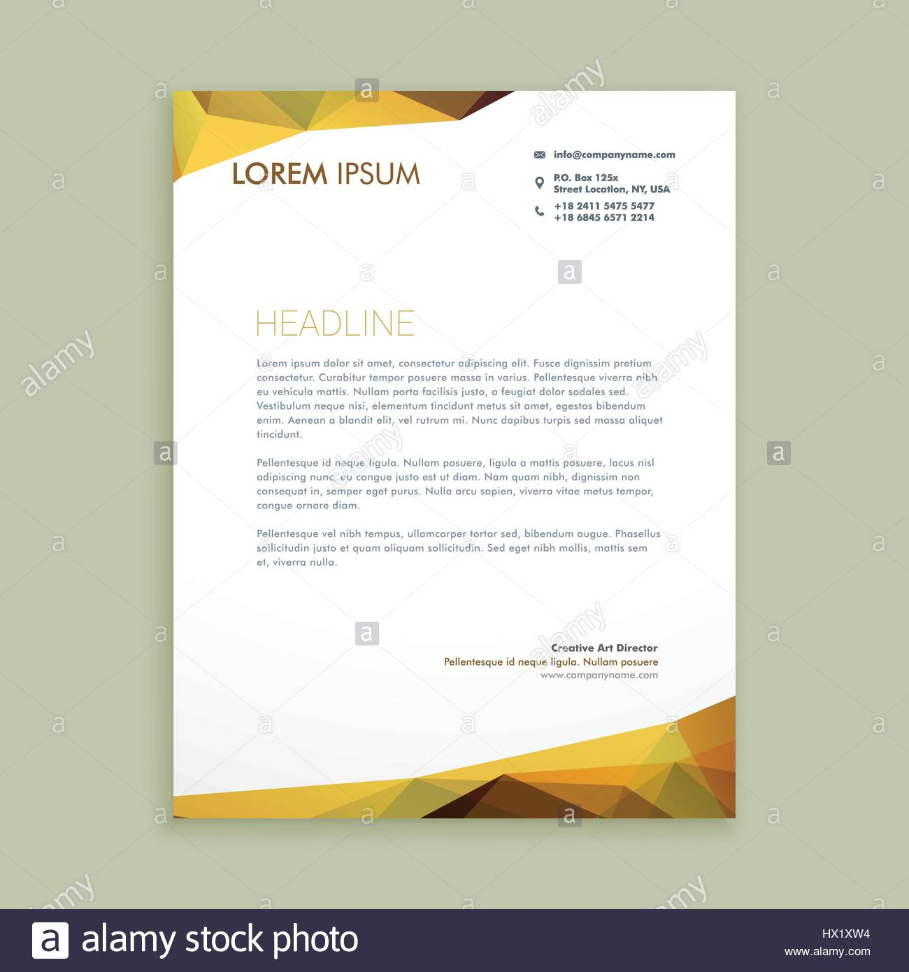 corporate modern letterhead template vector design illustration