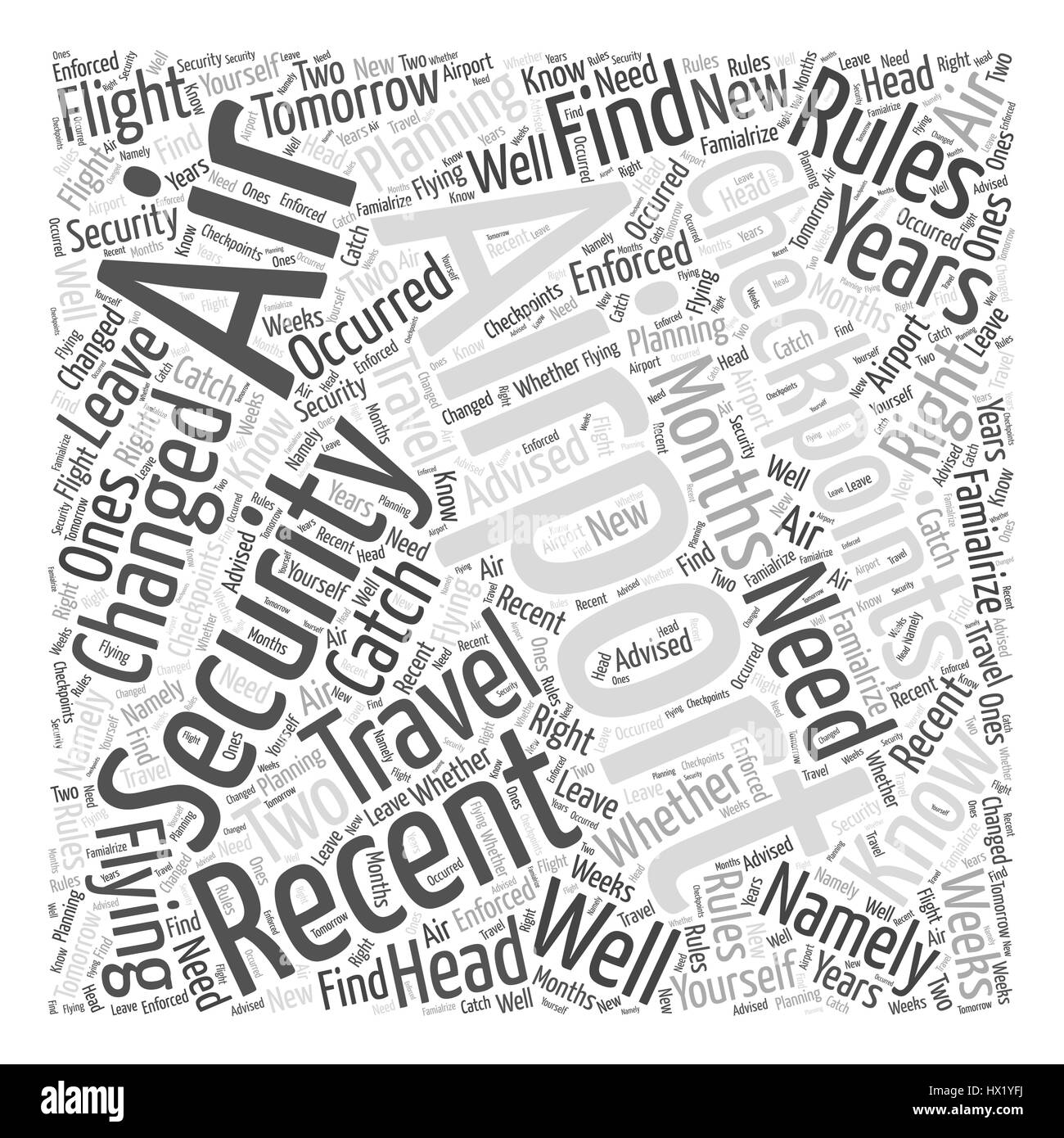 Airport Security Checkpoints What You Need to Know Word Cloud Concept Stock Vector