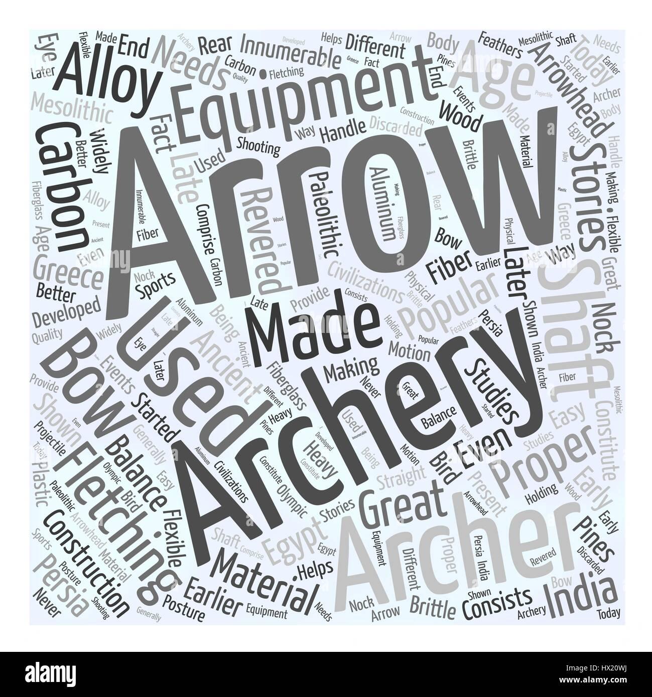 archery equipment Word Cloud Concept - Stock Image