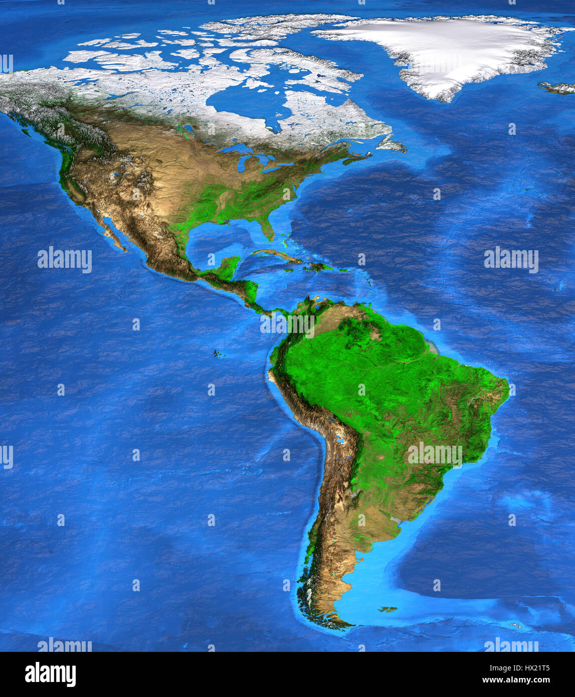 detailed satellite view of the earth and its landforms north and south america map elements of this image furnished by nasa