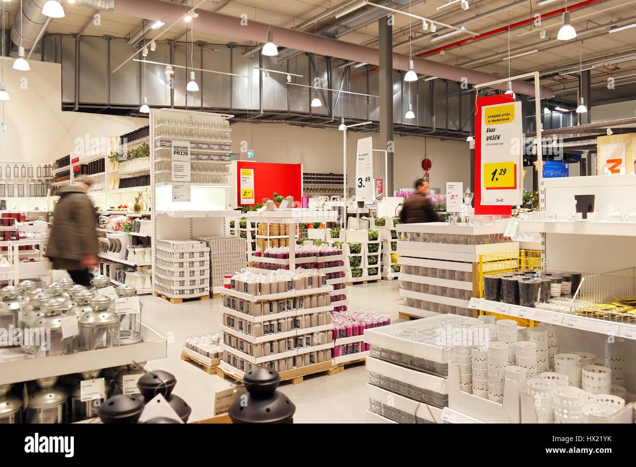 Warehouse area of Ikea furniture store - Stock Image