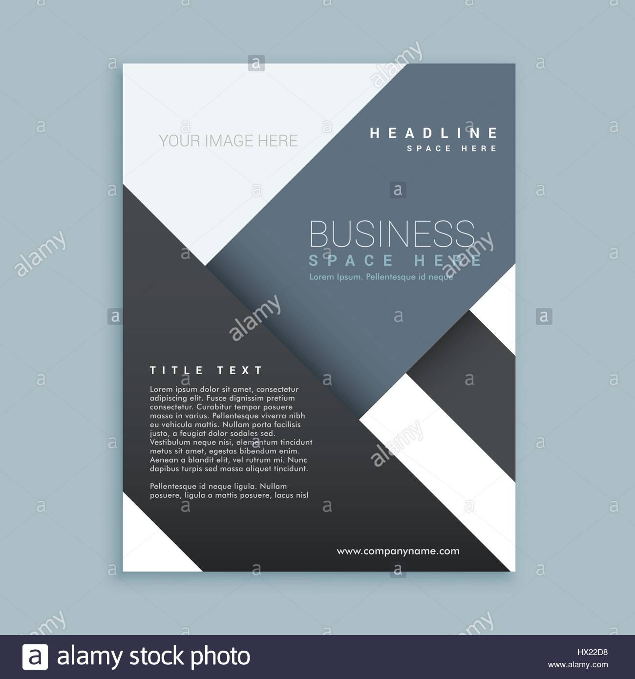 abstract promotional company brochure template poster stock vector