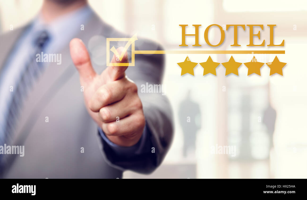 Five stars luxury Hotel service and accommodation - Stock Image