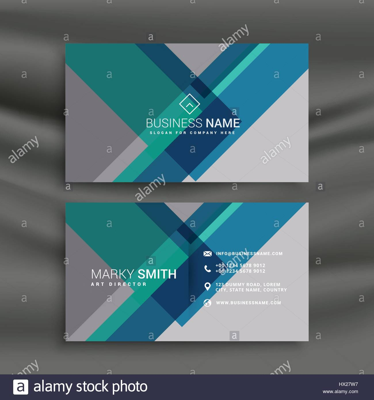 Creative business card design vector with geometric shapes stock creative business card design vector with geometric shapes colourmoves