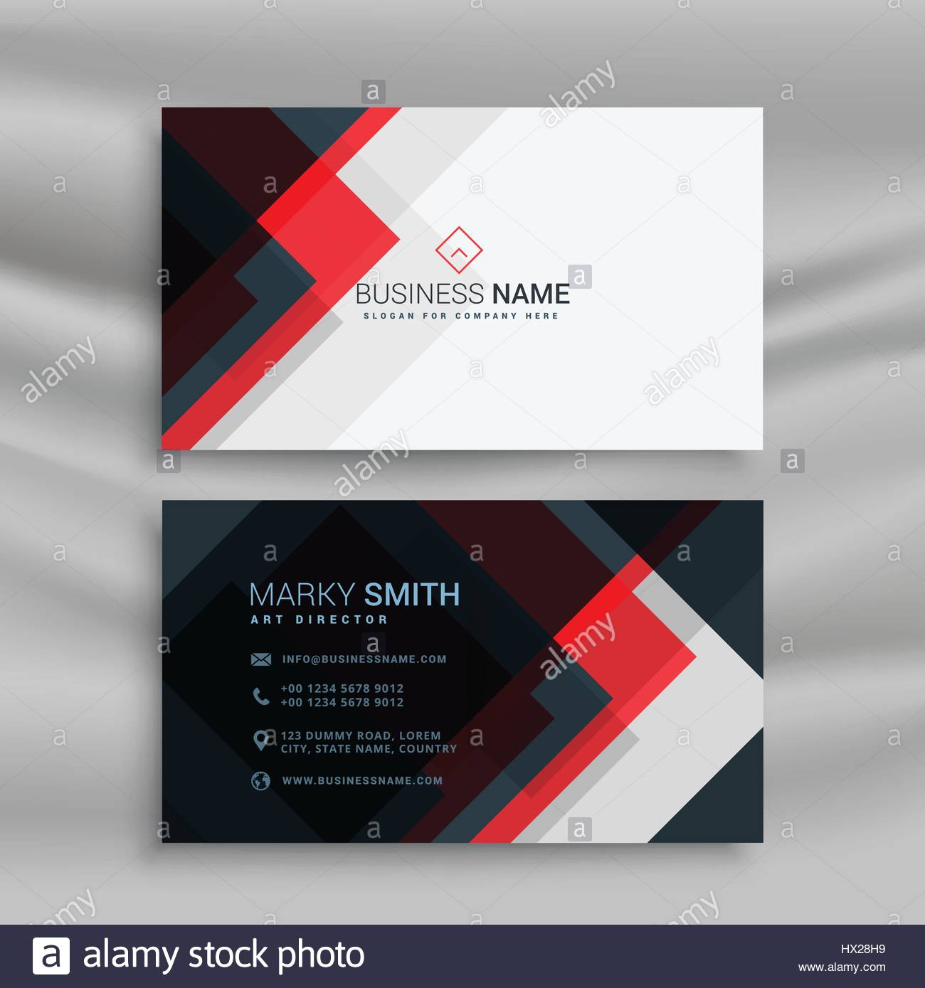 Vector red and black creative business card template design stock vector red and black creative business card template design friedricerecipe Gallery