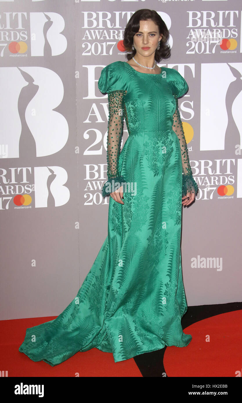 Feb 22, 2017 - Eliza Cummings attending The BRIT Awards 2017 at The O2 Arena, Greenwich in London, England, UK - Stock Image