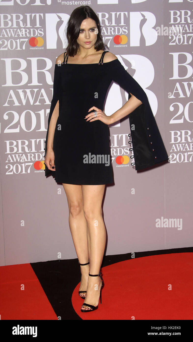 Feb 22, 2017 - Lilah Parsons attending The BRIT Awards 2017 at The O2 Arena, Greenwich in London, England, UK - Stock Image