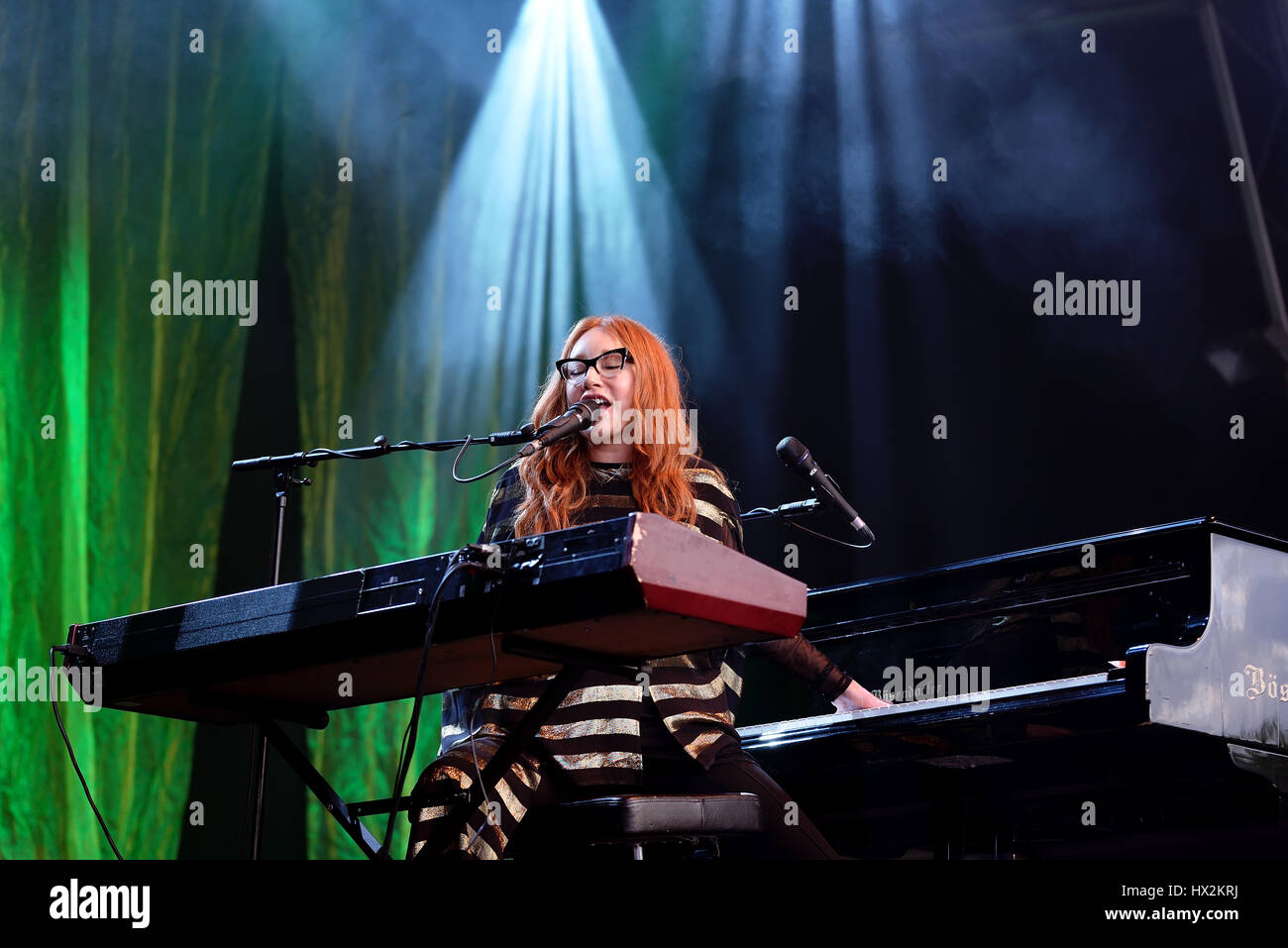 BARCELONA - MAY 30: Tori Amos (singer, songwriter, pianist and composer) performs at Primavera Sound 2015 Festival Stock Photo