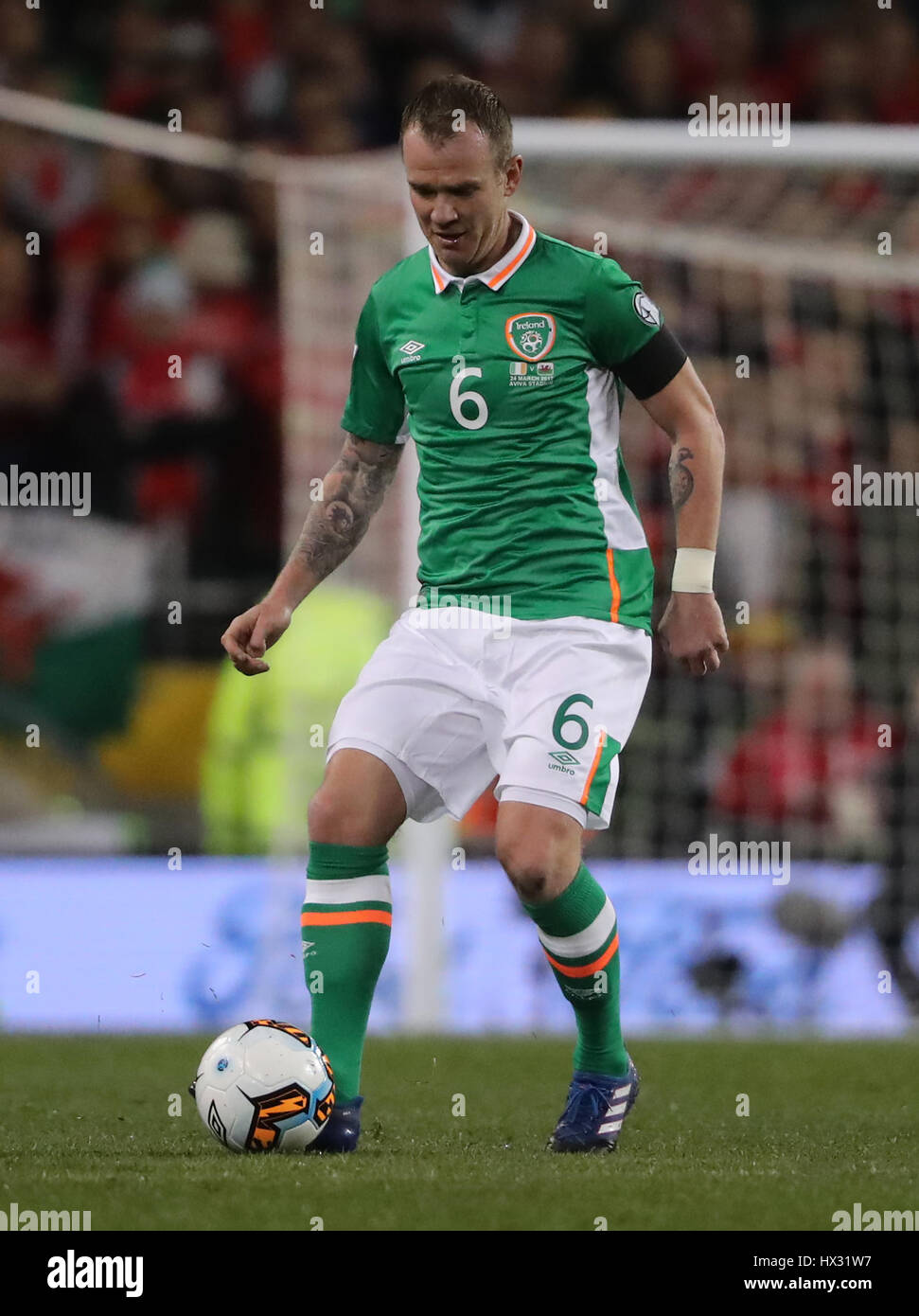 Republic Of Ireland S Glenn Whelan During The 2018 Fifa World Cup Qualifying Group D Match At Aviva Stadium Dublin