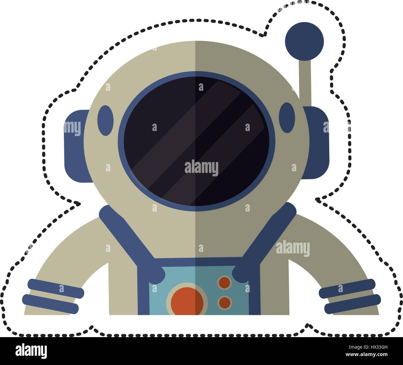 astronaut spacesuit helmet shadow - Stock Image