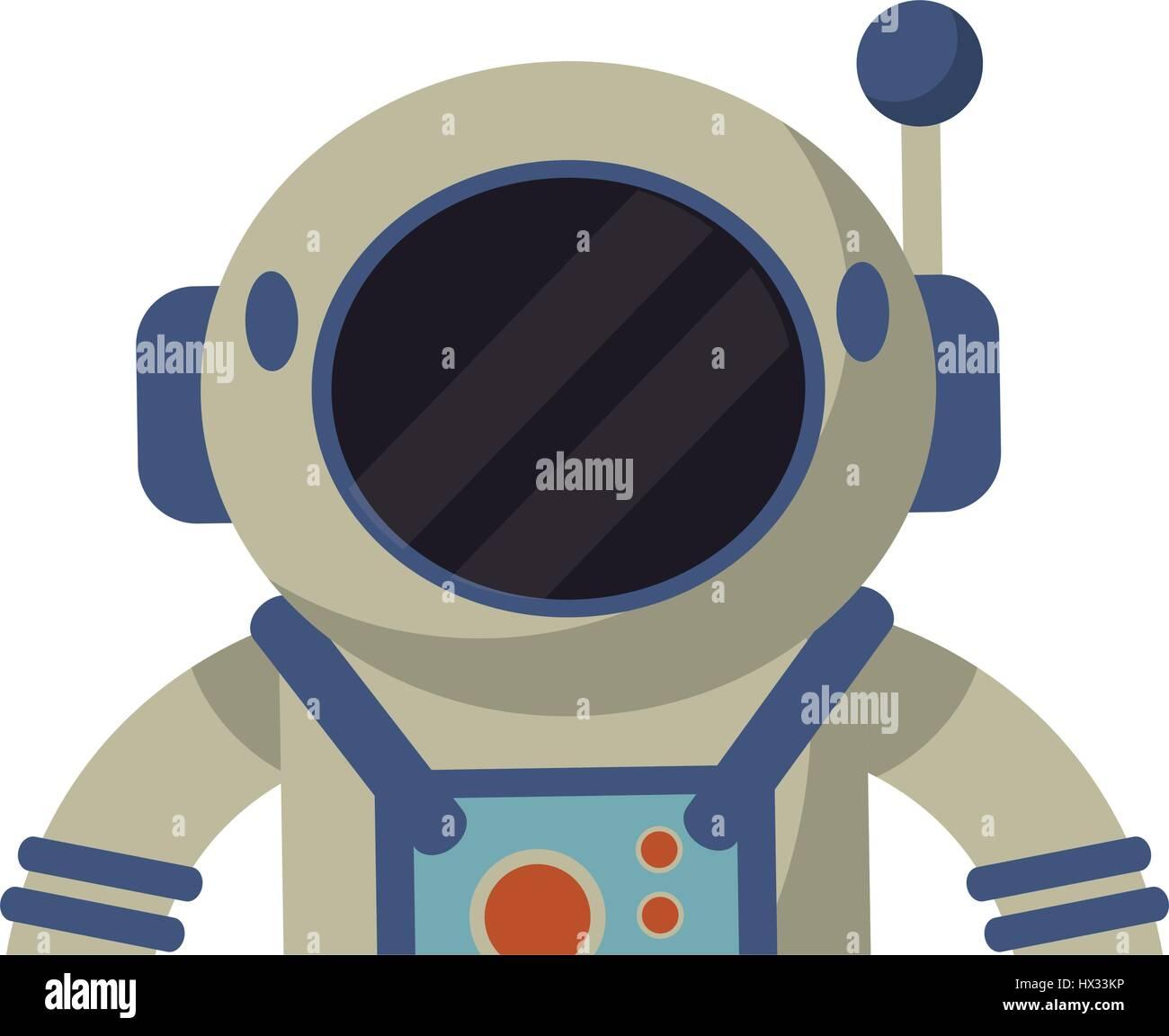 astronaut spacesuit helmet protection - Stock Image