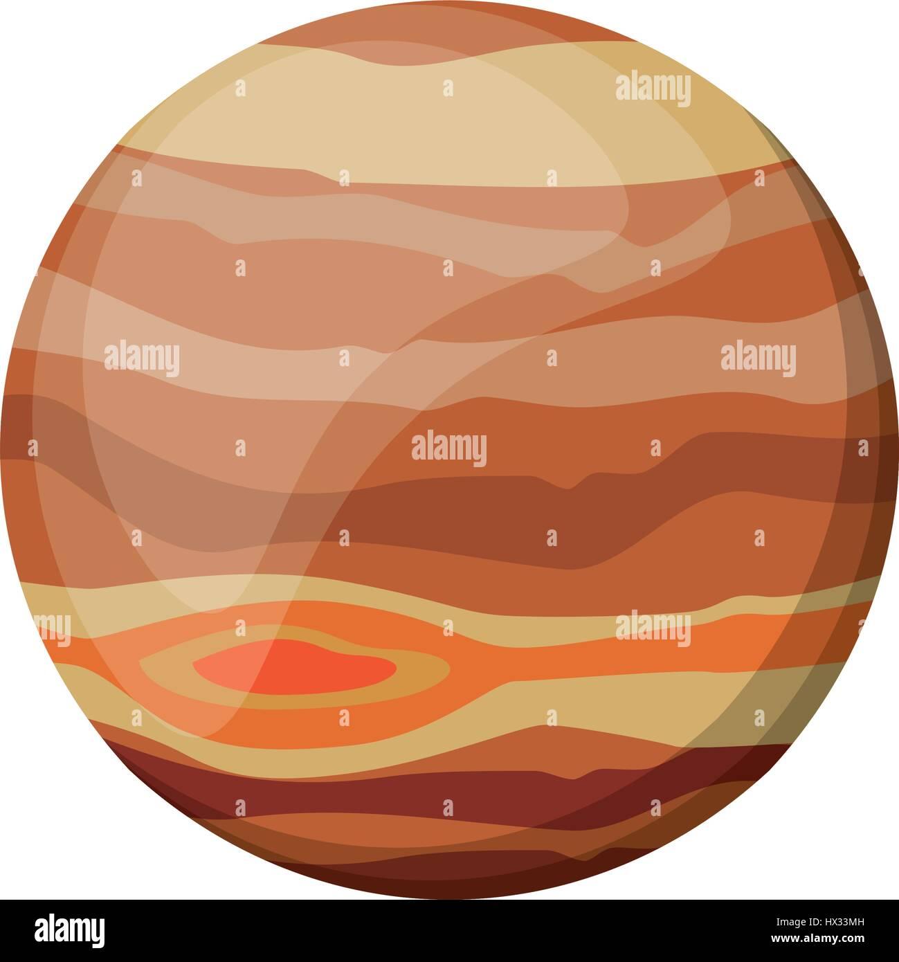 jupiter planet space image - Stock Image