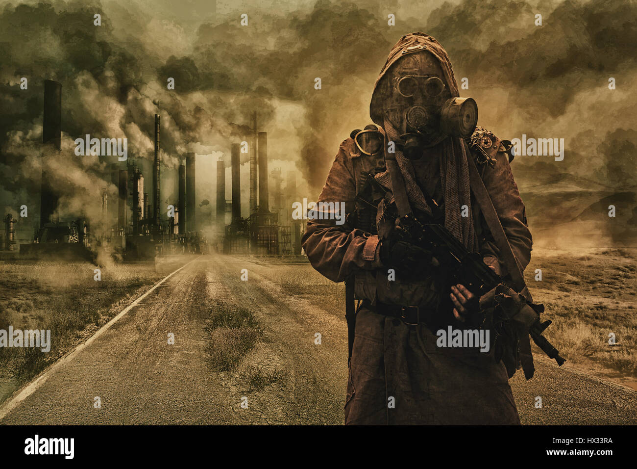 Air pollution concept - Stock Image