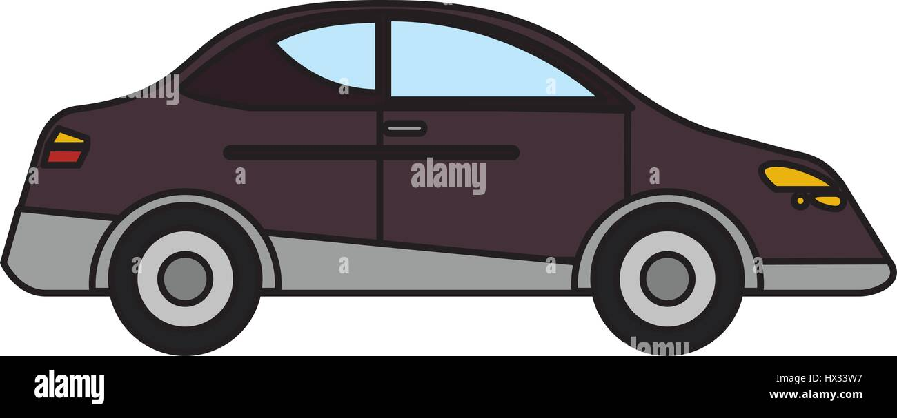 car sedan vehicle transport - Stock Image
