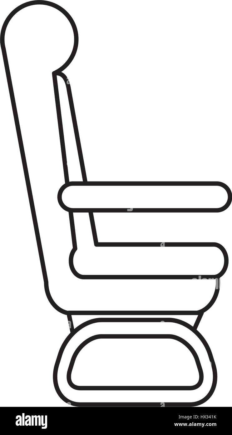 airplane chair isolated icon - Stock Vector