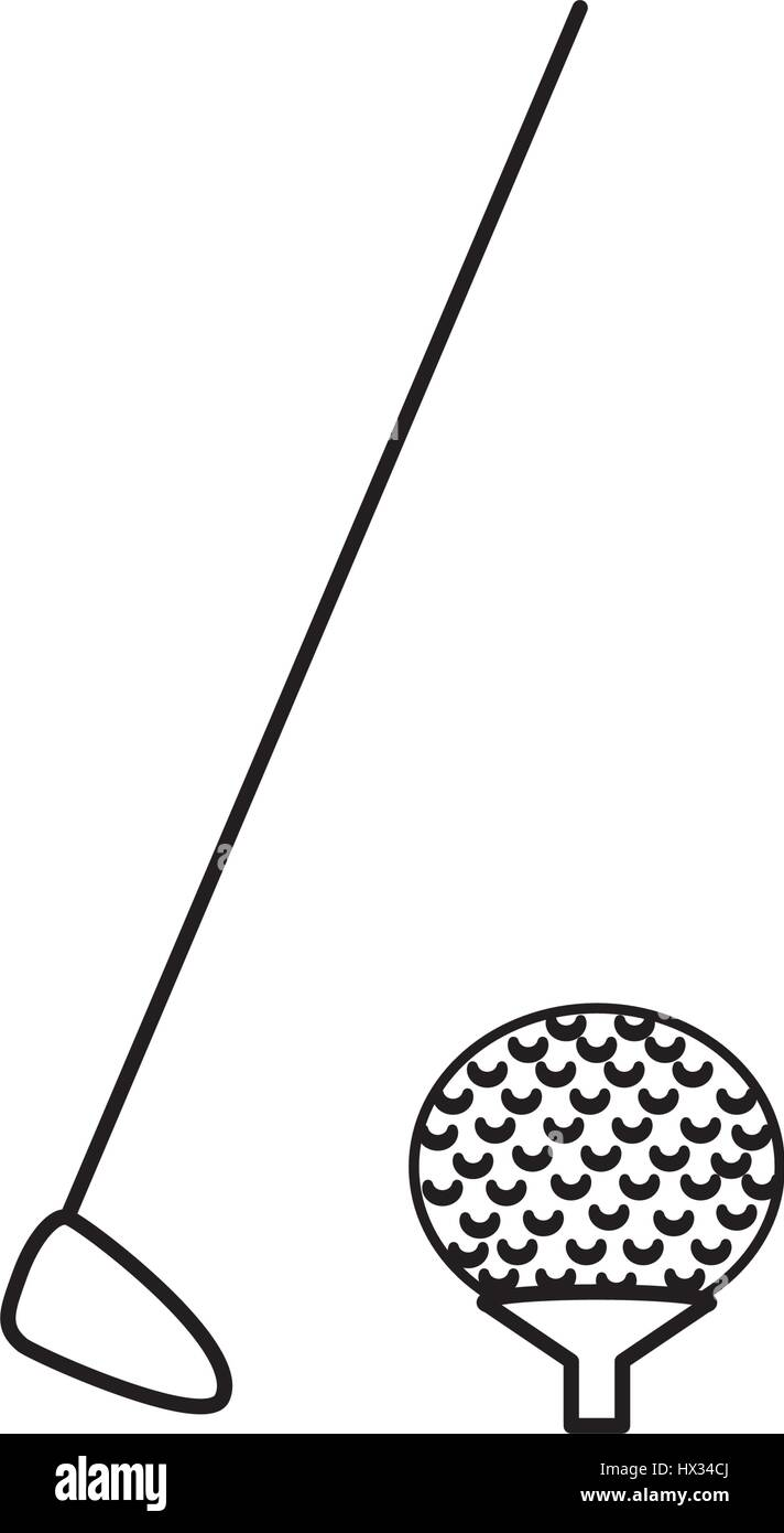 golf sport isolated icon - Stock Image