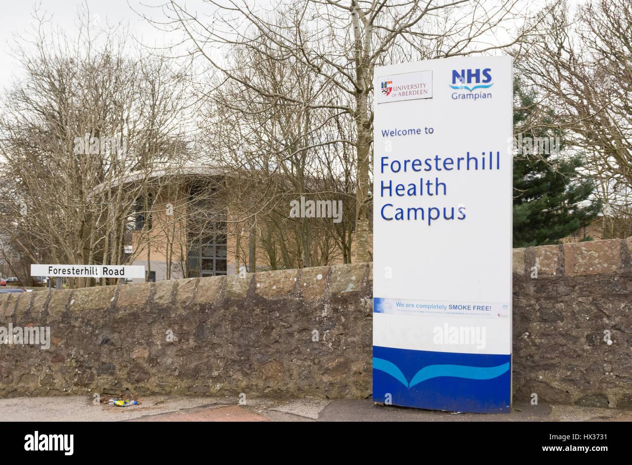 Foresterhill Health Campus, Aberdeen, Scotland, UK - Stock Image