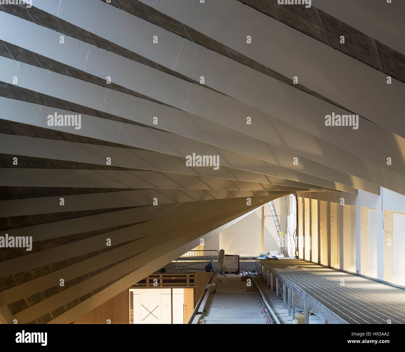 View Of Top Floor Focusing On Paraboloid Roof Design Museum Under Stock Photo Alamy