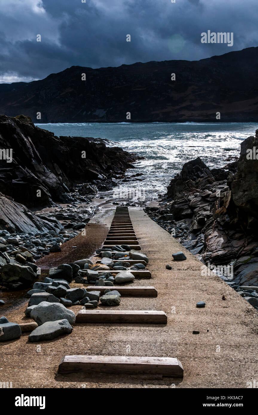 Slipway at Loughros Point near Ardara, County Donegal, Ireland part of Ireland's Wild Atlantic Way - Stock Image