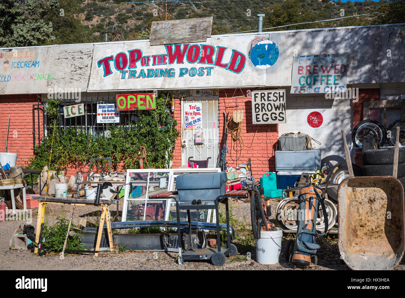 official photos c3008 b24f7 The Top of the World Trading Post store in Miami, Arizona, USA.